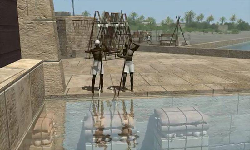 piramit taşlarının yatay hareketi