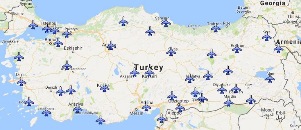 Türkiye'deki Havalimanları Listesi