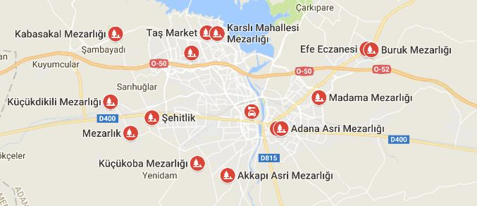 Adana Mezarlıklar Listesi