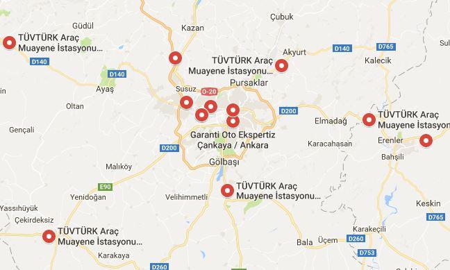 Ankara Araç Muayene İstasyonları