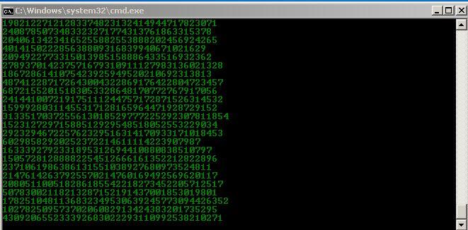 Bat Kodları İle Matrix Efekti