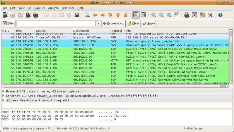 Wireshark ile ağ dinleme